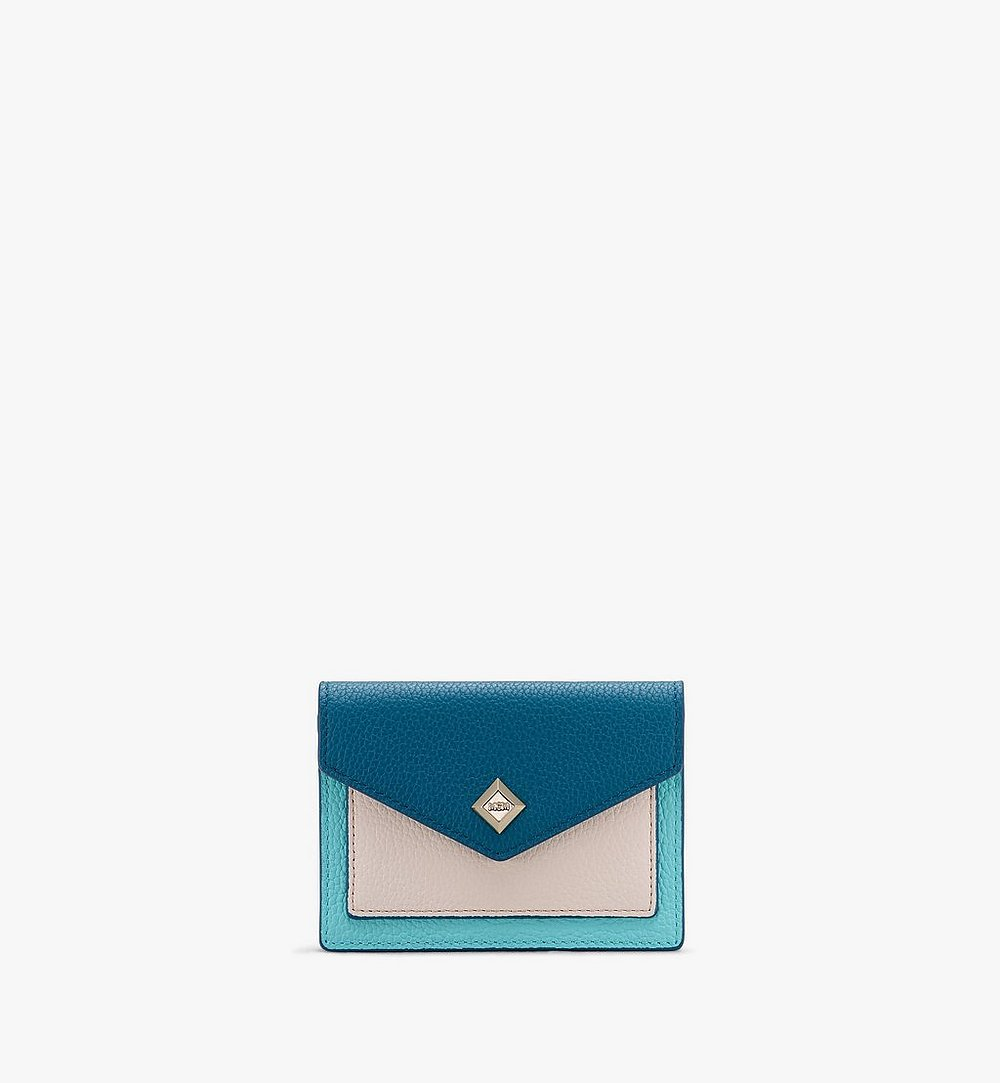 MCM Love Letter Wallet in Park Avenue Leather Blue MYAASLV01JF001 Alternate View 1