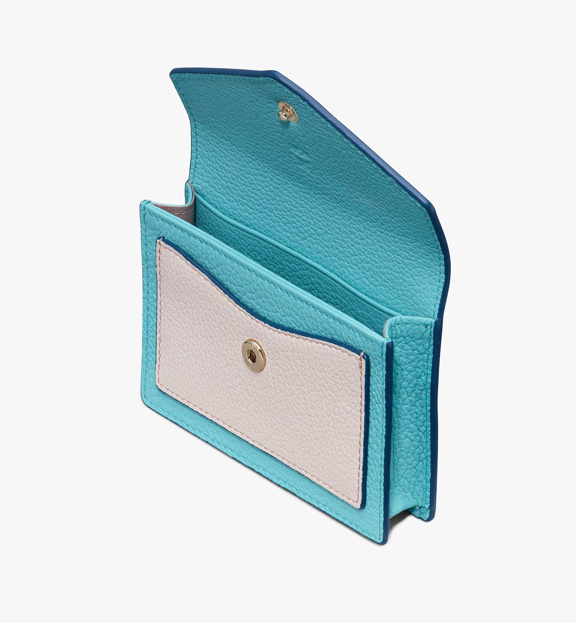 MCM Love Letter Wallet in Park Avenue Leather Blue MYAASLV01JF001 Alternate View 3