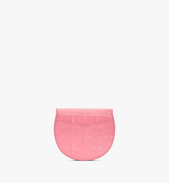 MCM Patricia Round Crossbody Wallet in Diamond Patent Leather Pink MYAASPA02QG001 Alternate View 2