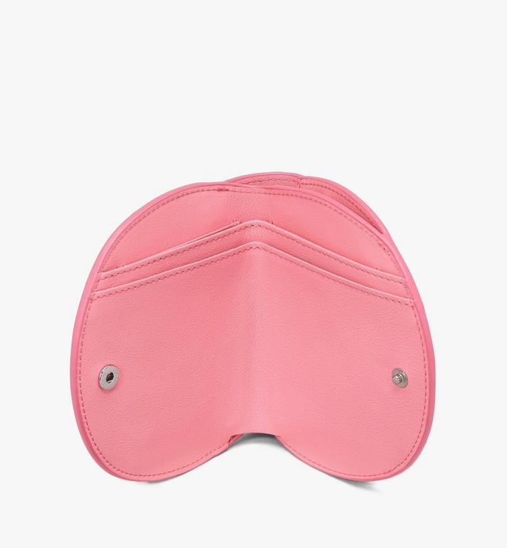 MCM Patricia Round Crossbody Wallet in Diamond Patent Leather Pink MYAASPA02QG001 Alternate View 4