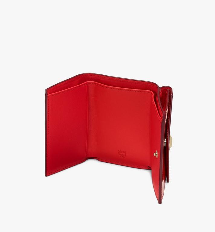 MCM 모노그램드 메탈릭 페이턴트 미니 카드 지갑 Red MYAASPM01R4001 Alternate View 3