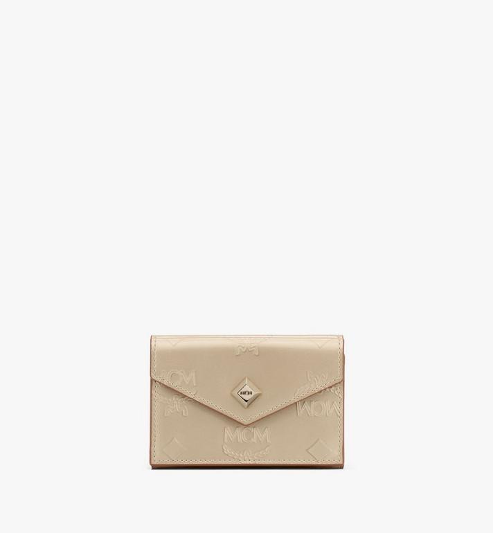 MCM Mini Card Wallet in Metallic Monogram Leather Alternate View