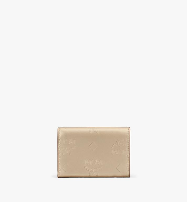 MCM Mini Card Wallet in Metallic Monogram Leather  MYAASPM01T1001 Alternate View 2