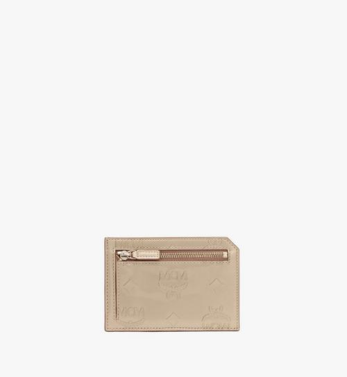 Card Case in Metallic Monogram Leather