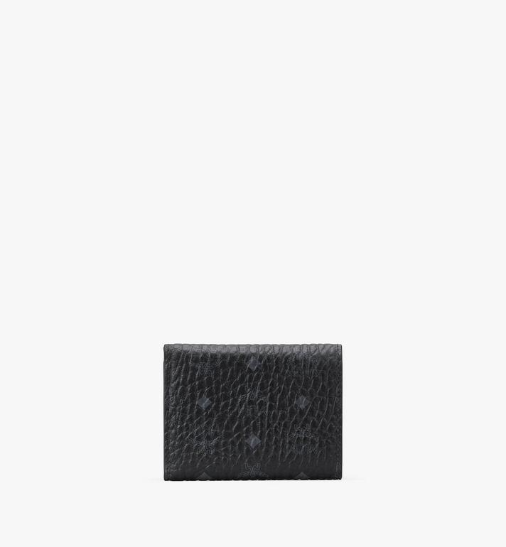 MCM Trifold Wallet in Visetos Black MYAASVI01BK001 Alternate View 2