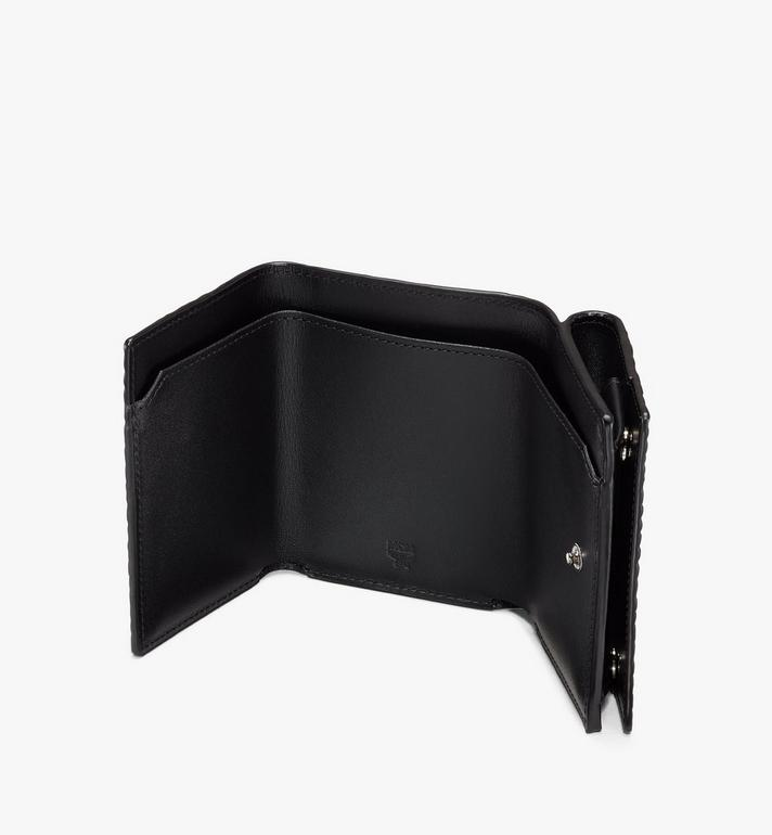 MCM Trifold Wallet in Visetos Black MYAASVI01BK001 Alternate View 3