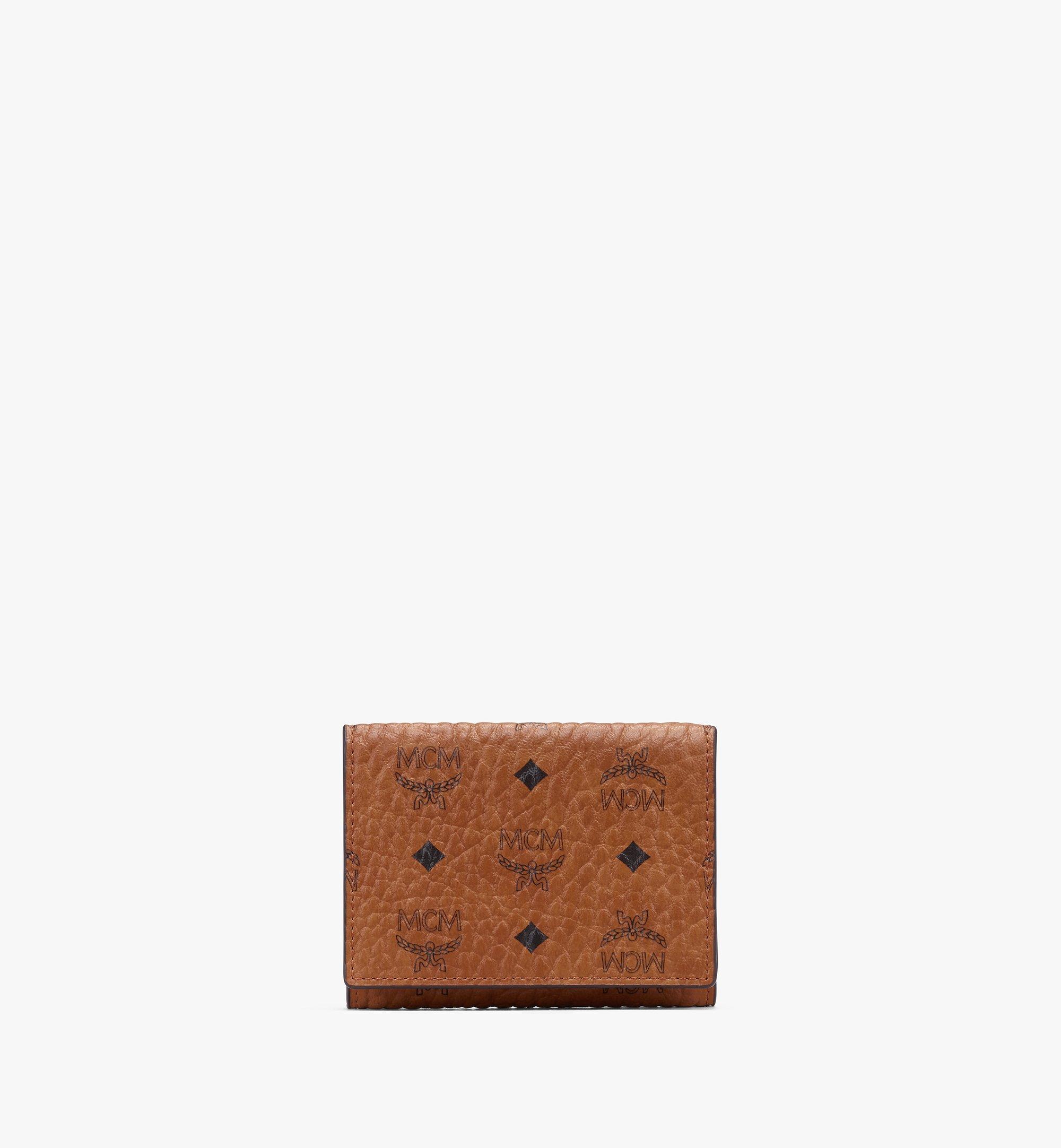 MCM กระเป๋าสตางค์พับสามทบลาย Visetos Cognac MYAASVI01CO001 มุมมองอื่น 1