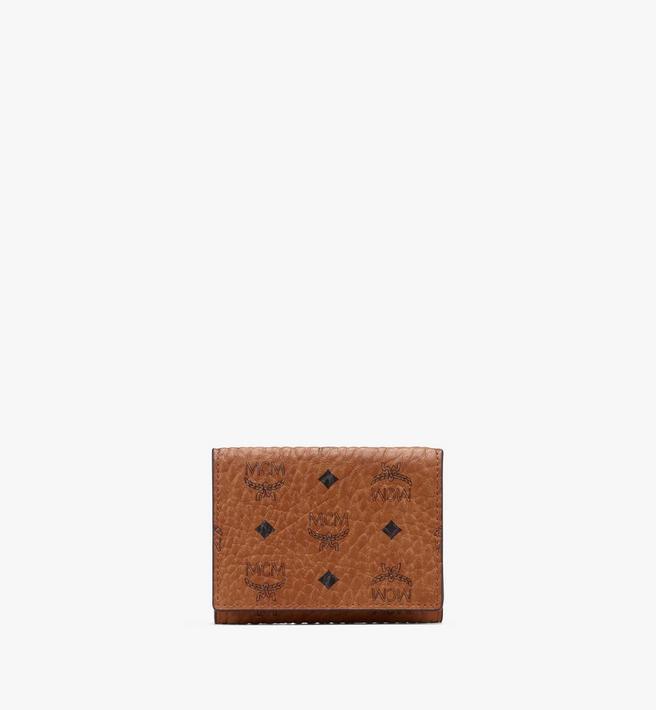MCM Trifold Wallet in Visetos Alternate View