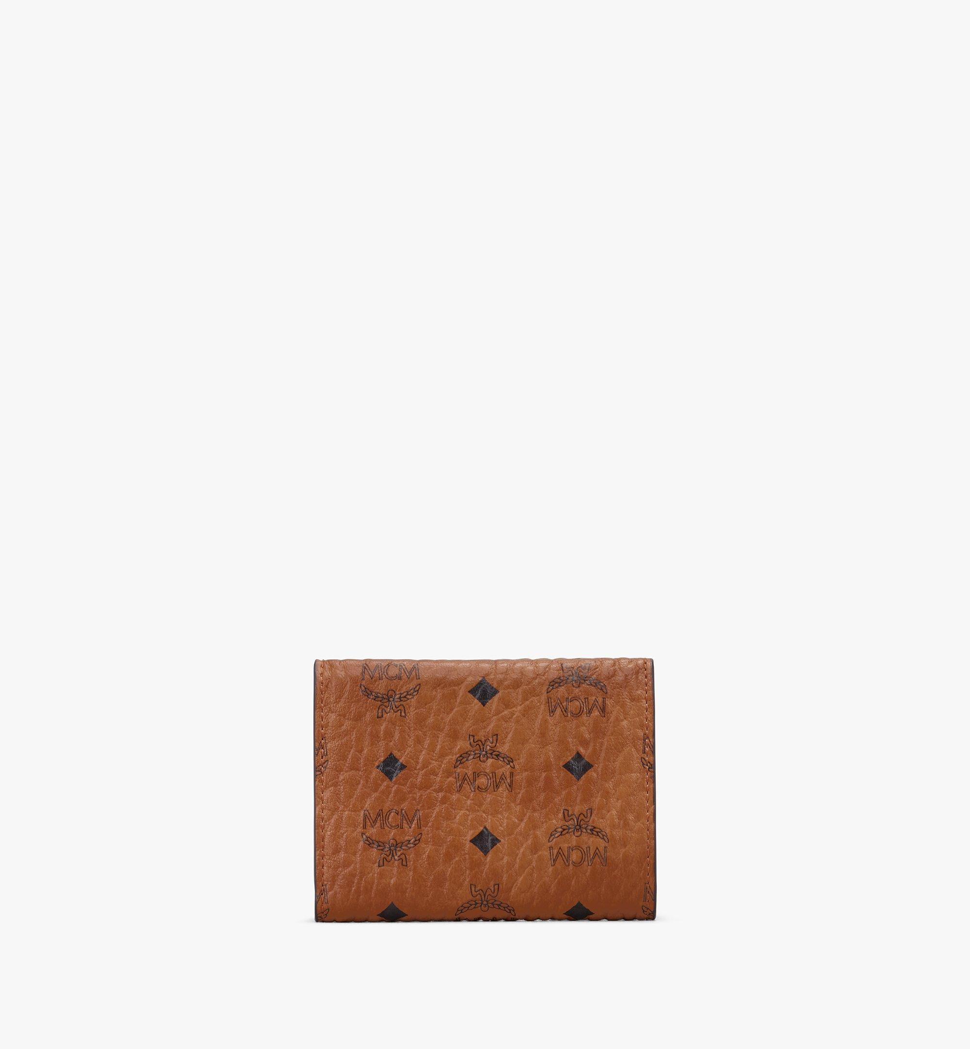 MCM Trifold Wallet in Visetos Cognac MYAASVI01CO001 Alternate View 2