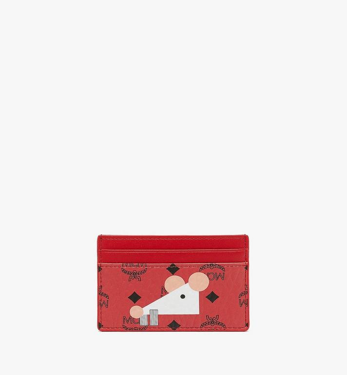 MCM Year Of The Mouse Card Case Red MYAASXL02RJ001 Alternate View 2