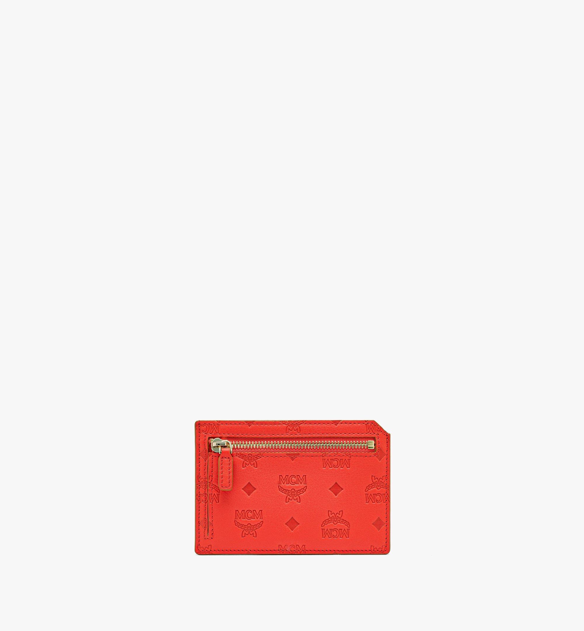 MCM Klara Multifunction Card Holder in Monogram Leather Red MYABSKM01R8001 Alternate View 1