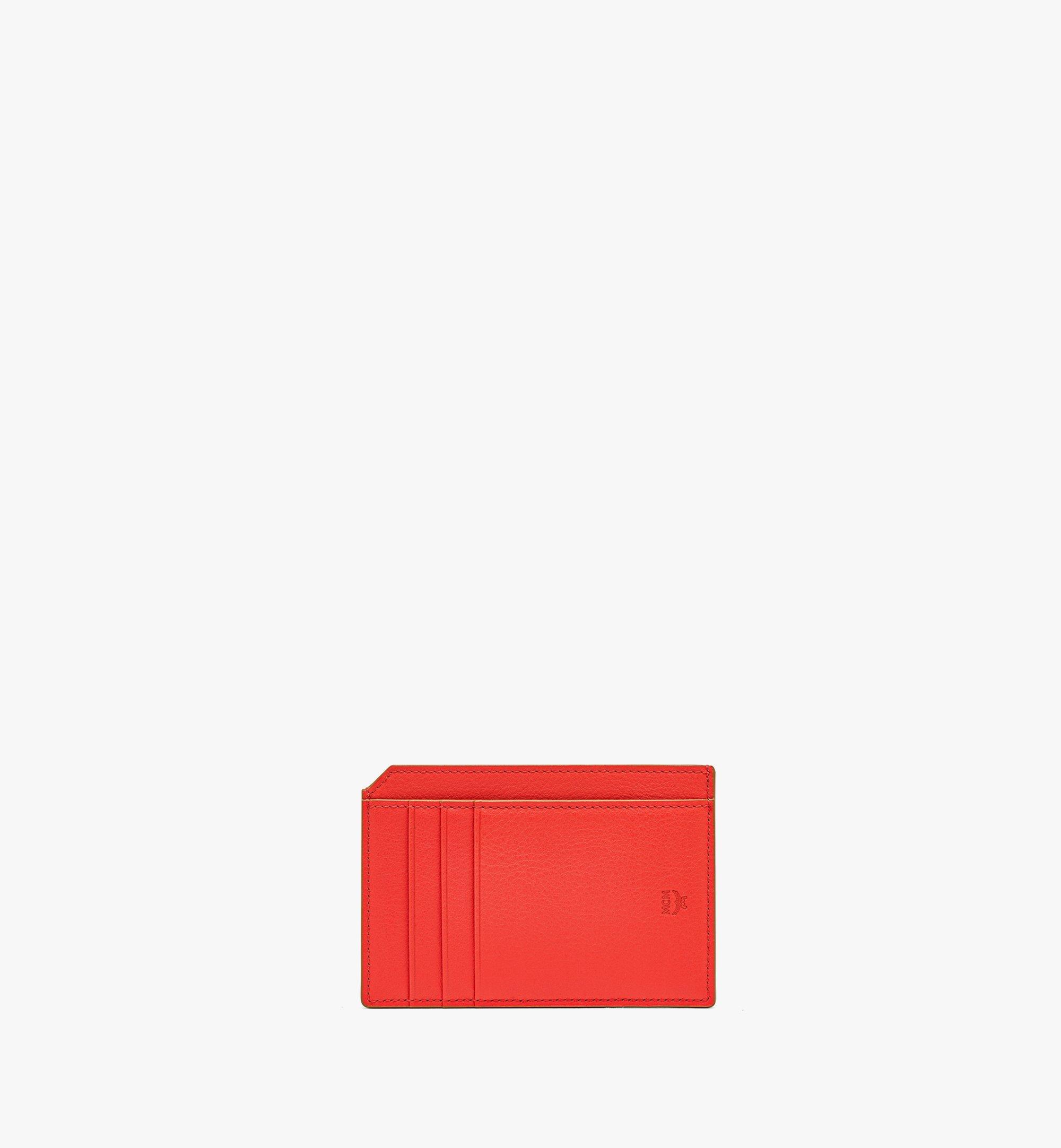 MCM Klara Multifunction Card Holder in Monogram Leather Red MYABSKM01R8001 Alternate View 2
