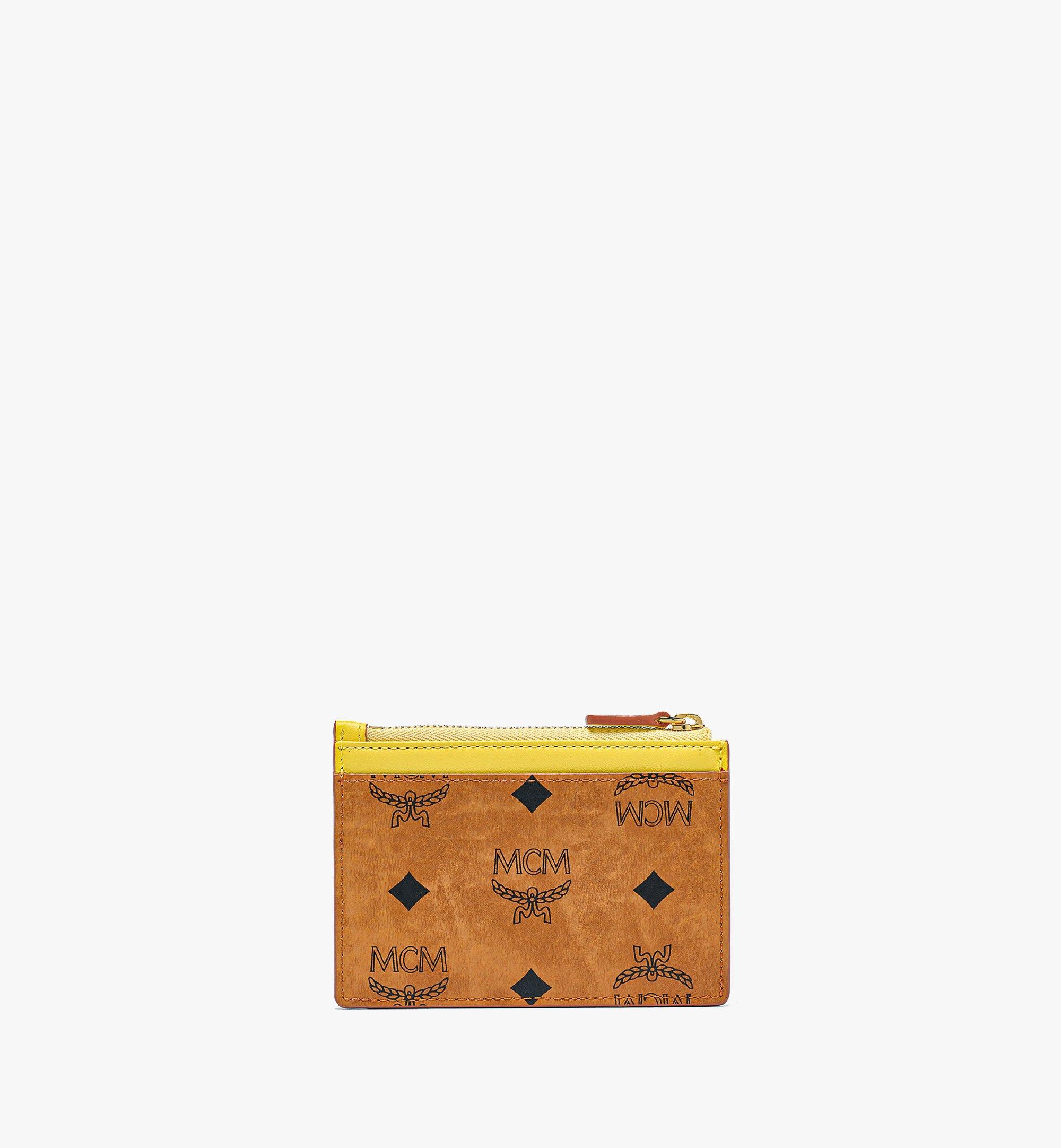 MCM Patricia Zip Card Case in Visetos Leather Block Pink MYABSPA03O8001 Alternate View 2