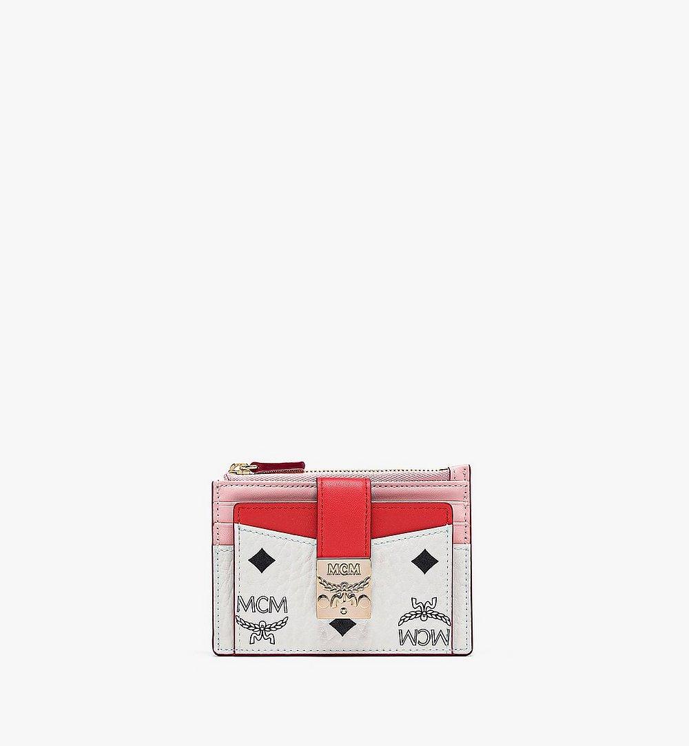 MCM 〈パトリシア〉ジップ カードケース - ヴィセトス レザー ブロック Pink MYABSPA03R4001 ほかの角度から見る 1