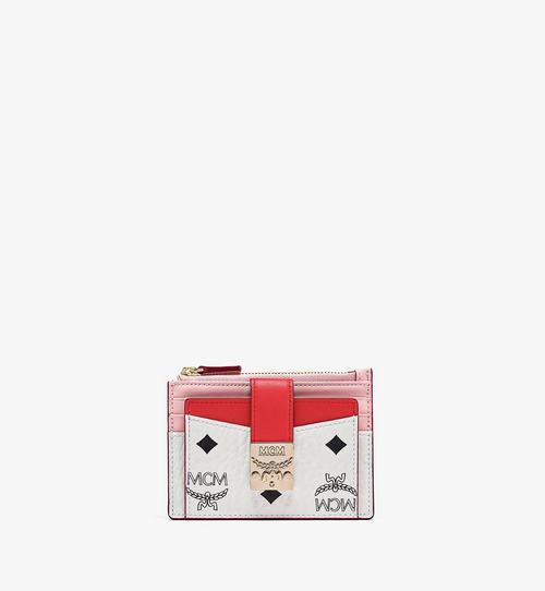 Porte-cartes zippé Patricia en bloc de cuir Visetos