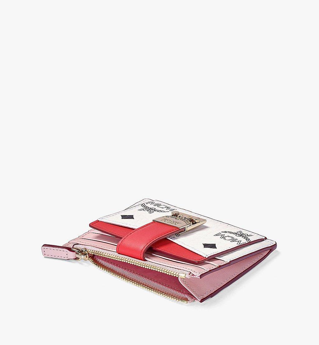 MCM Patricia Zip Card Case in Visetos Leather Block Pink MYABSPA03R4001 Alternate View 1
