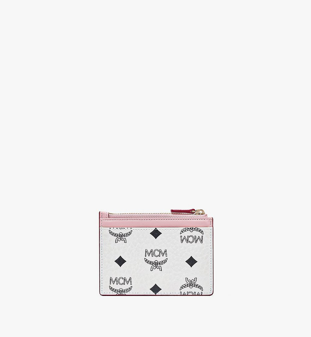 MCM Patricia Zip Card Case in Visetos Leather Block Pink MYABSPA03R4001 Alternate View 2