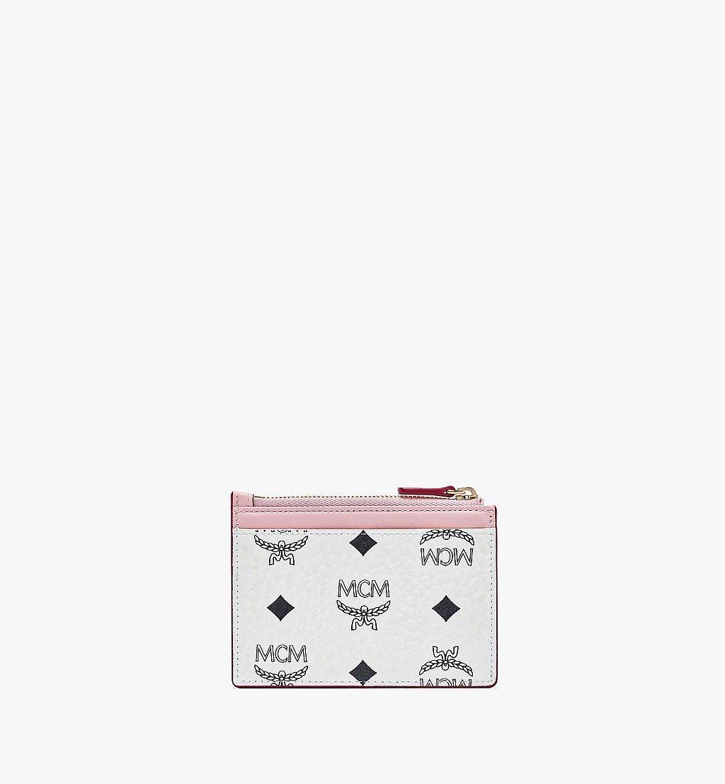 MCM Patricia Zip Card Case in Visetos Leather Block Pink MYABSPA03R4001 Alternate View 2