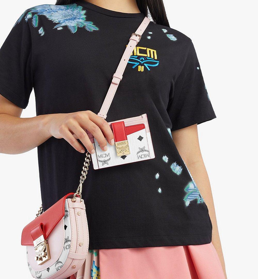 MCM 〈パトリシア〉ジップ カードケース - ヴィセトス レザー ブロック Pink MYABSPA03R4001 ほかの角度から見る 2