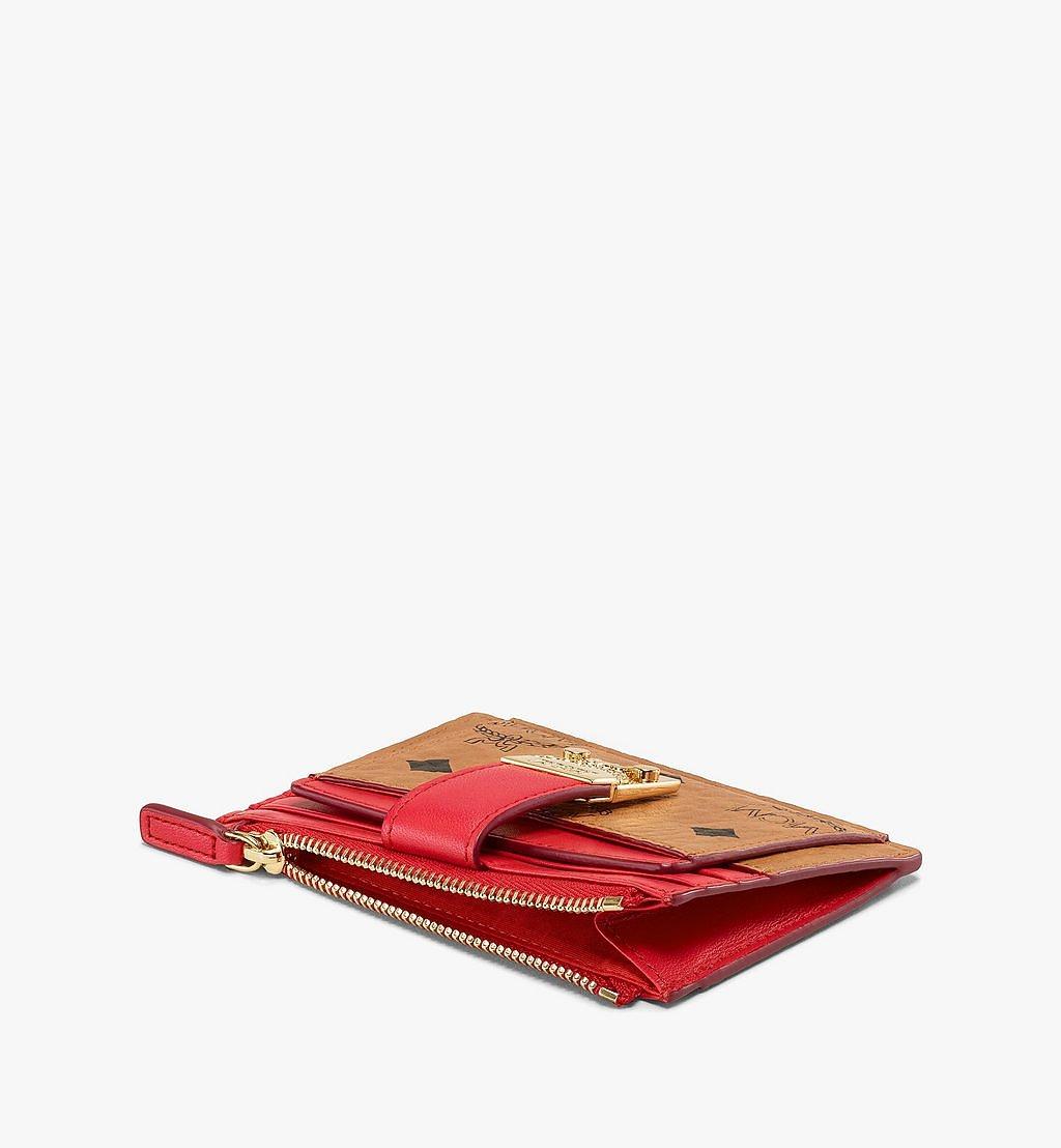 MCM Kartenetui Patricia in Visetos Leder Block mit Reissverschluss Pink MYABSPA04R4001 Noch mehr sehen 1