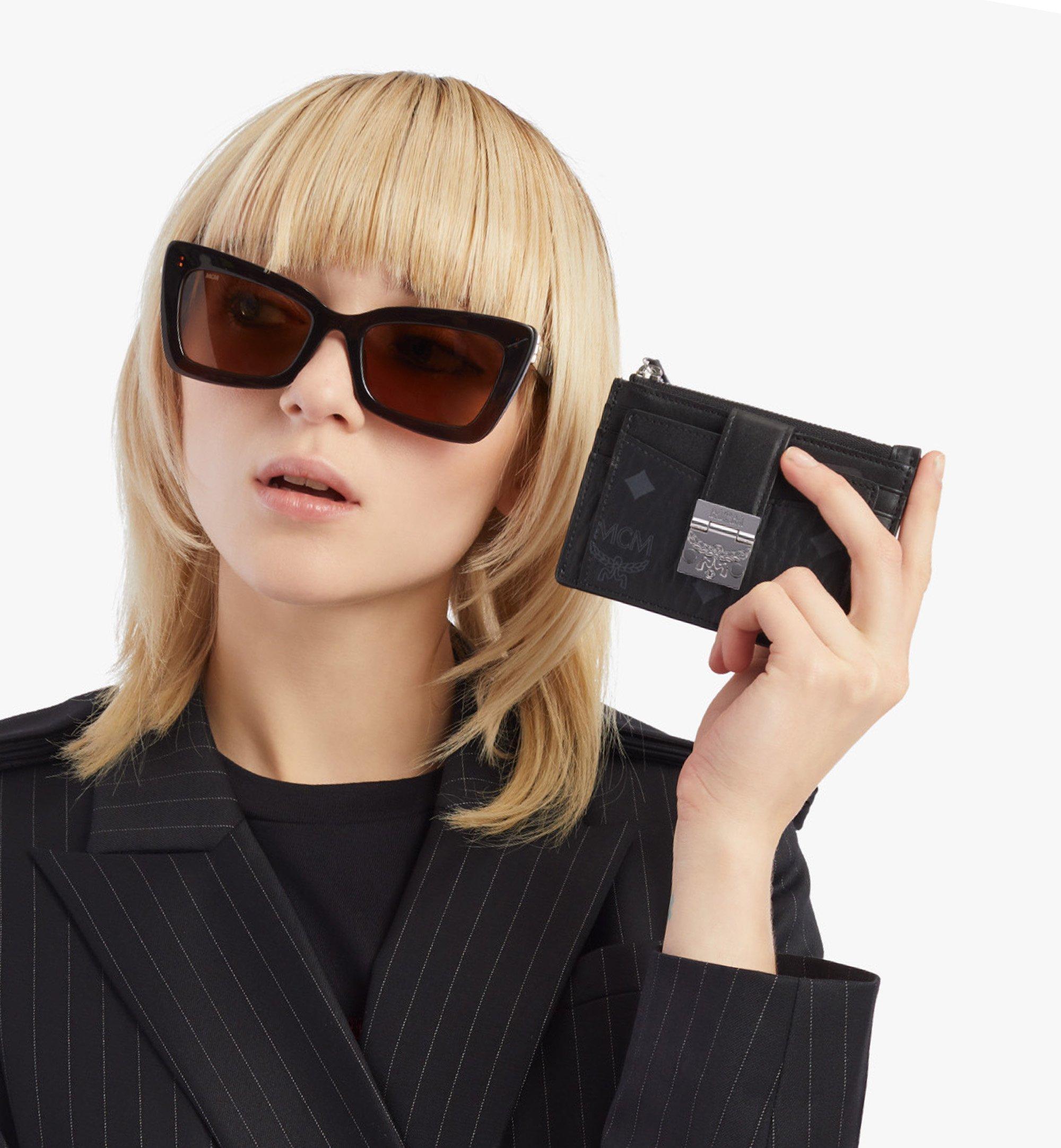 MCM Visetos 系列 Patricia 拉鏈卡片夾 Black MYABSPA07BK001 更多視圖 2