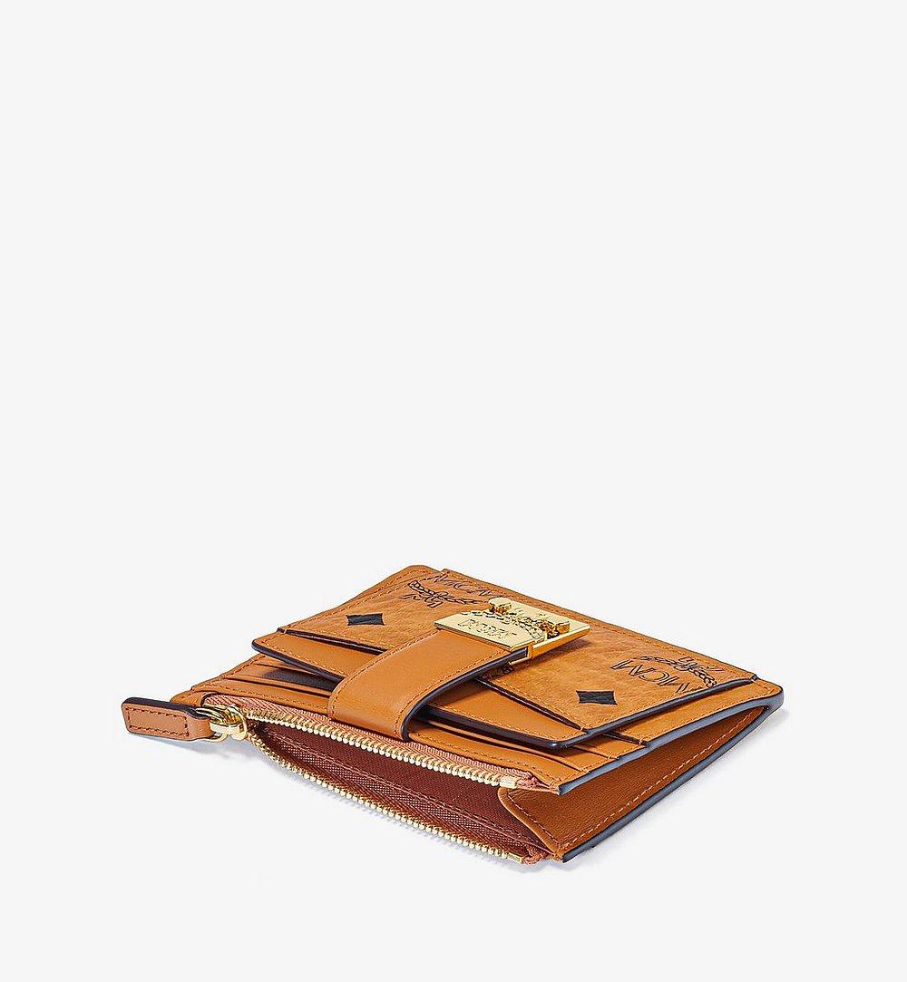 MCM Patricia Zip Card Case in Visetos Cognac MYABSPA07CO001 Alternate View 1