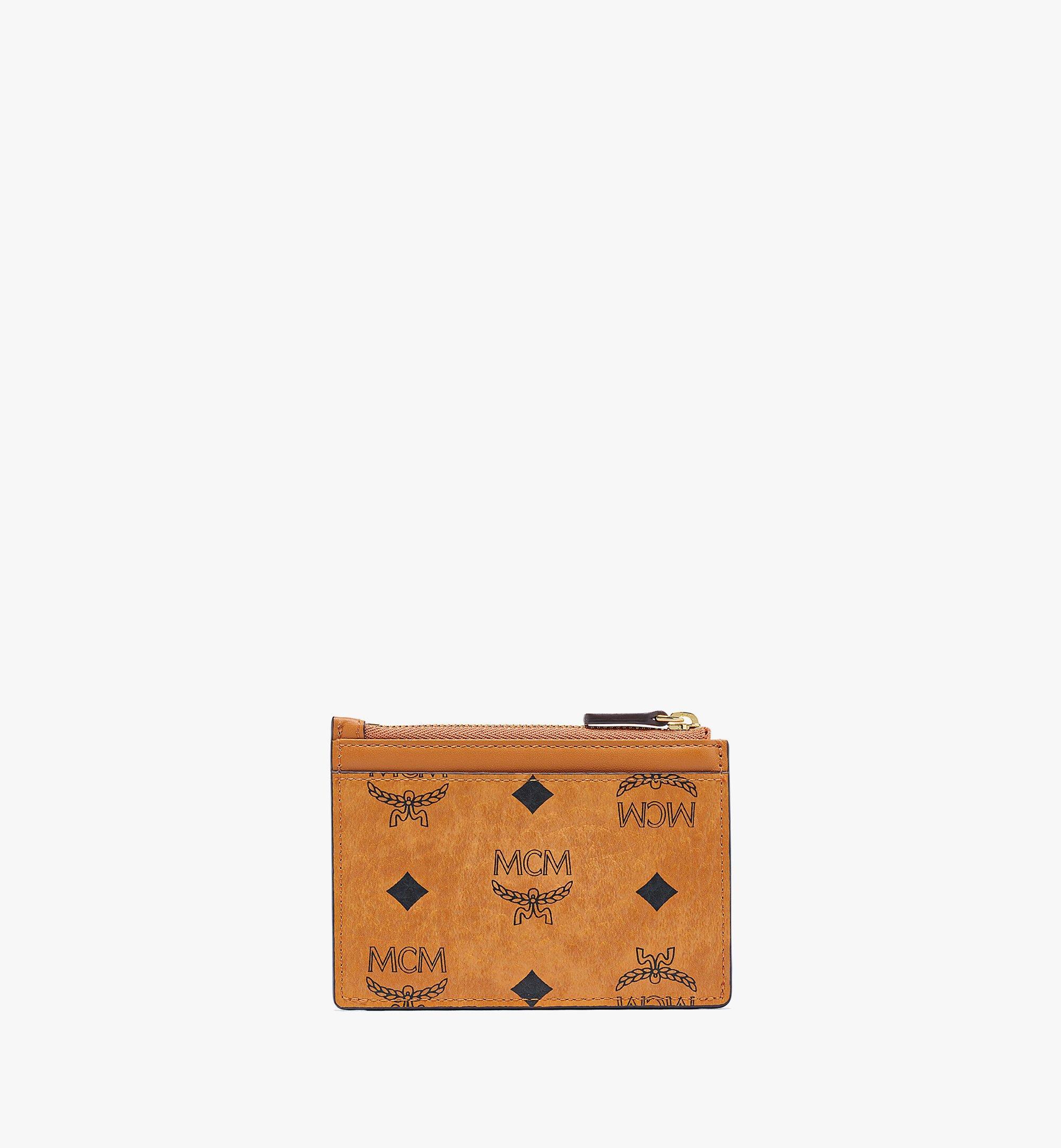 MCM 패트리샤 비세토스 지퍼 카드 케이스 Cognac MYABSPA07CO001 다른 각도 보기 2
