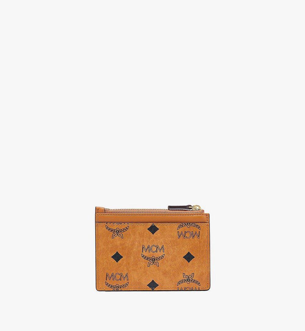 MCM Patricia Zip Card Case in Visetos Cognac MYABSPA07CO001 Alternate View 2