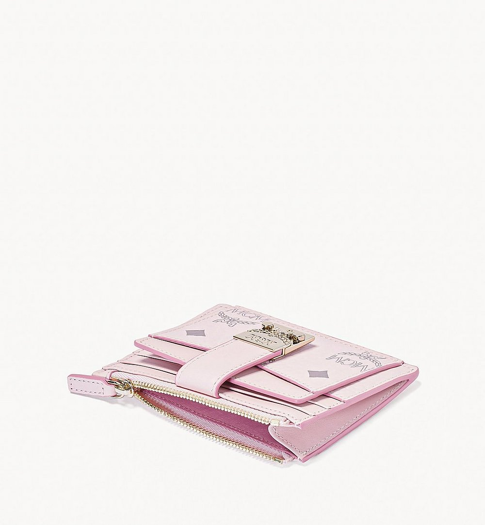 MCM Patricia Zip Card Case in Visetos Pink MYABSPA07QH001 Alternate View 1