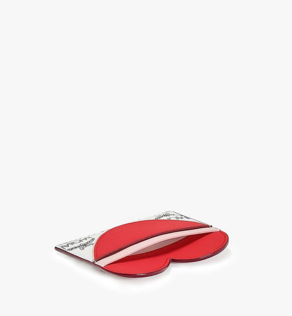 MCM Valentine Card Case in Visetos Leather Mix Red MYABSVI01R4001 Alternate View 1