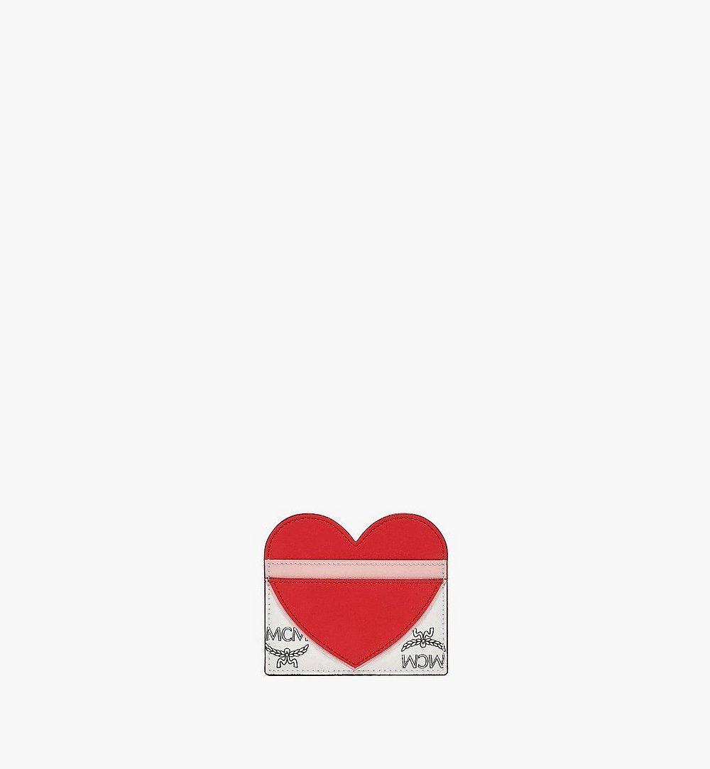 MCM Valentine Card Case in Visetos Leather Mix Red MYABSVI01R4001 Alternate View 2