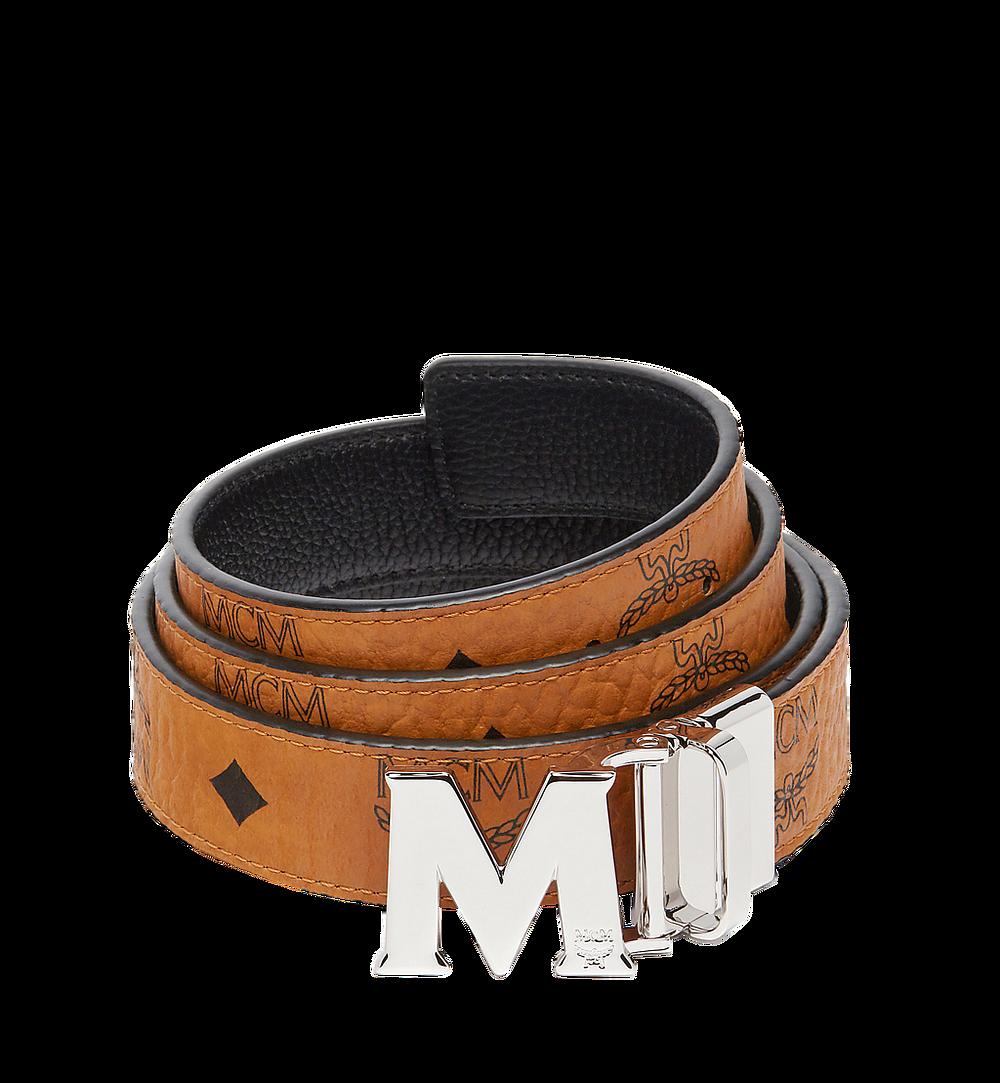MCM Claus Flat M Reversible Belt in Visetos Cognac MYB6AVC10CO001 Alternate View 1
