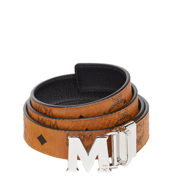 "MCM Color Visetos Reversible Belt 1"" Alternate View"