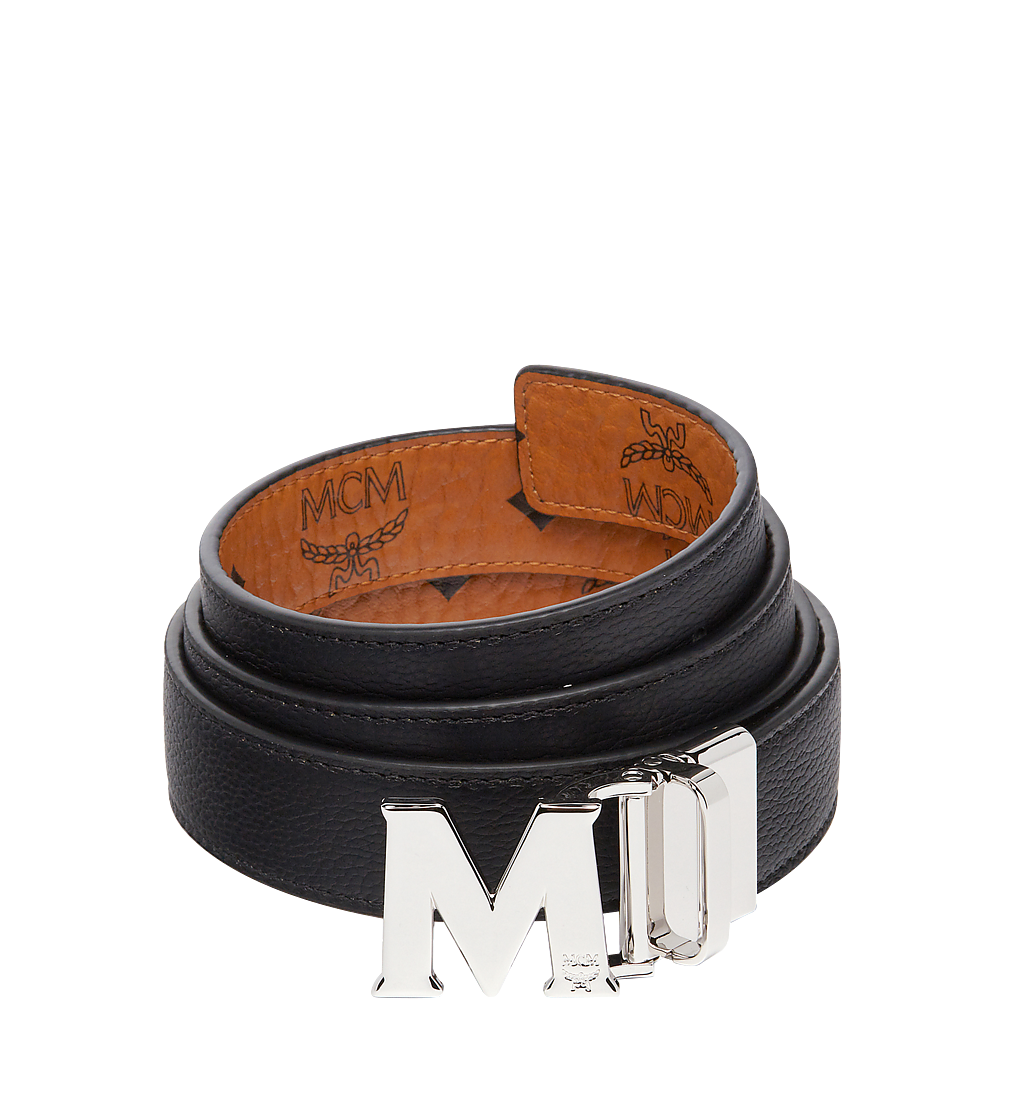 "MCM Color Visetos Reversible Belt 1"" Cognac MYB6AVC10CO001 Alternate View 1"