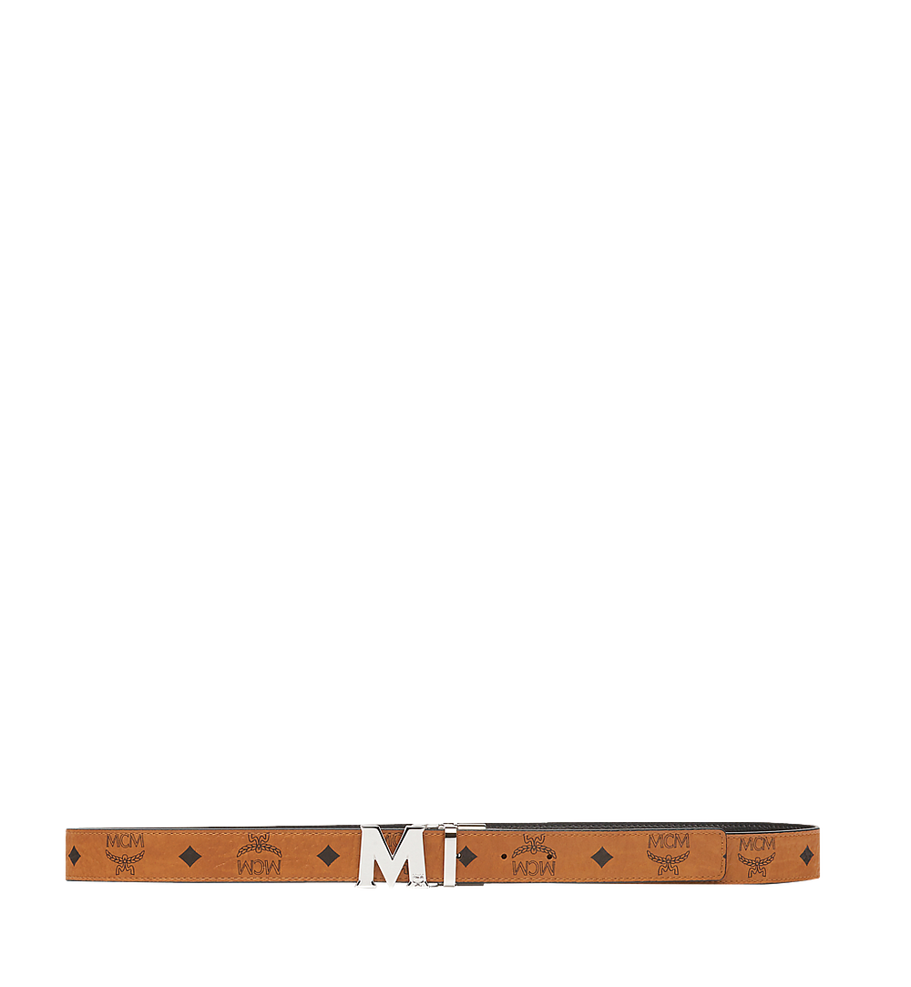 MCM Claus Flat M Reversible Belt in Visetos Cognac MYB6AVC10CO001 Alternate View 2