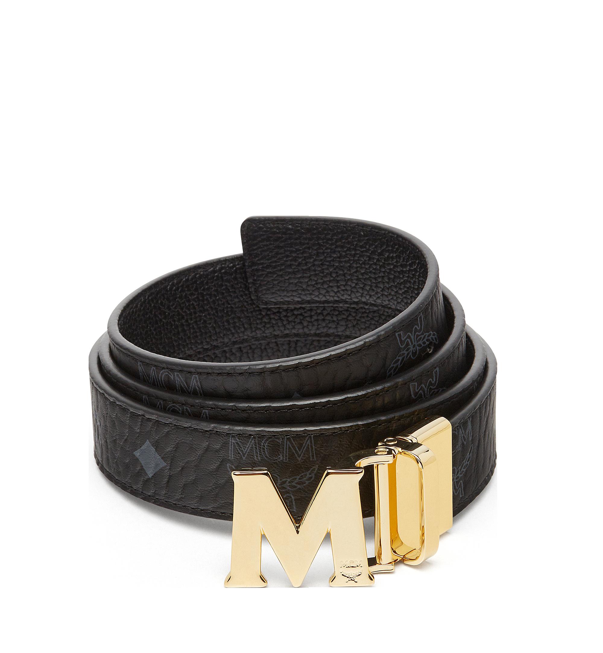 MCM Claus M Reversible Belt 3 cm in Visetos Black MYB7SVC09BK001 Alternate View 1