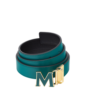 "MCM Claus Enamel M Reversible Belt 1.2"" in Leather MYB8AVI39KA001 AlternateView"