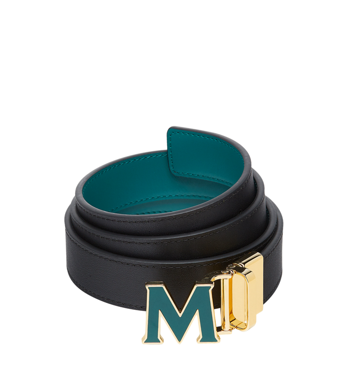 "MCM Claus Enamel M Reversible Belt 1.2"" in Leather MYB8AVI39KA001 AlternateView2"