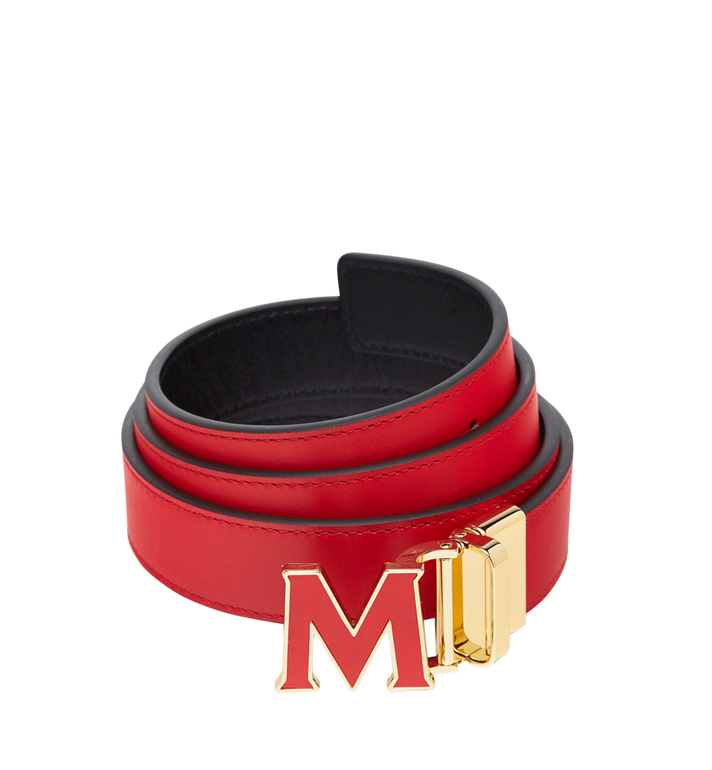 "MCM Claus Enamel M Reversible Belt 1.2"" in Leather  MYB8AVI39RU001 Alternate View 1"