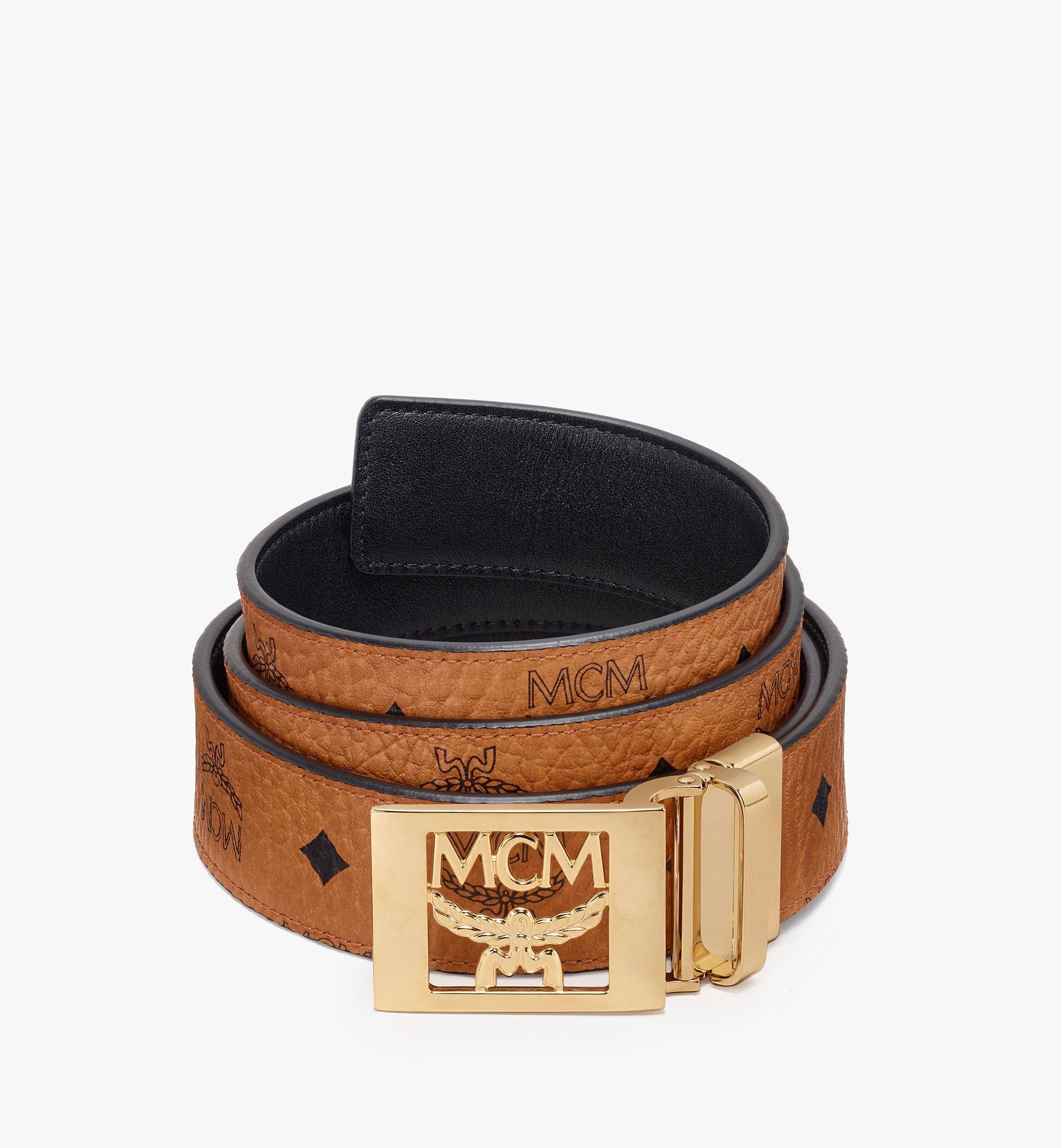 MCM Visetos皮革 MCM 可翻轉皮帶 Cognac MYB9AMM36CO001 更多視圖 1