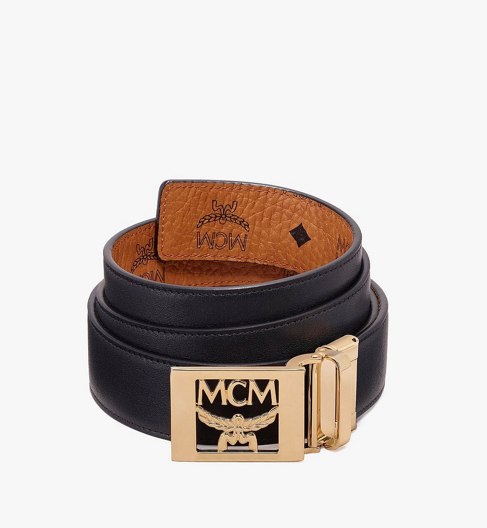 MCM MCM Collection Reversible Belt in Visetos Cognac MYB9AMM36CO001 Alternate View 1