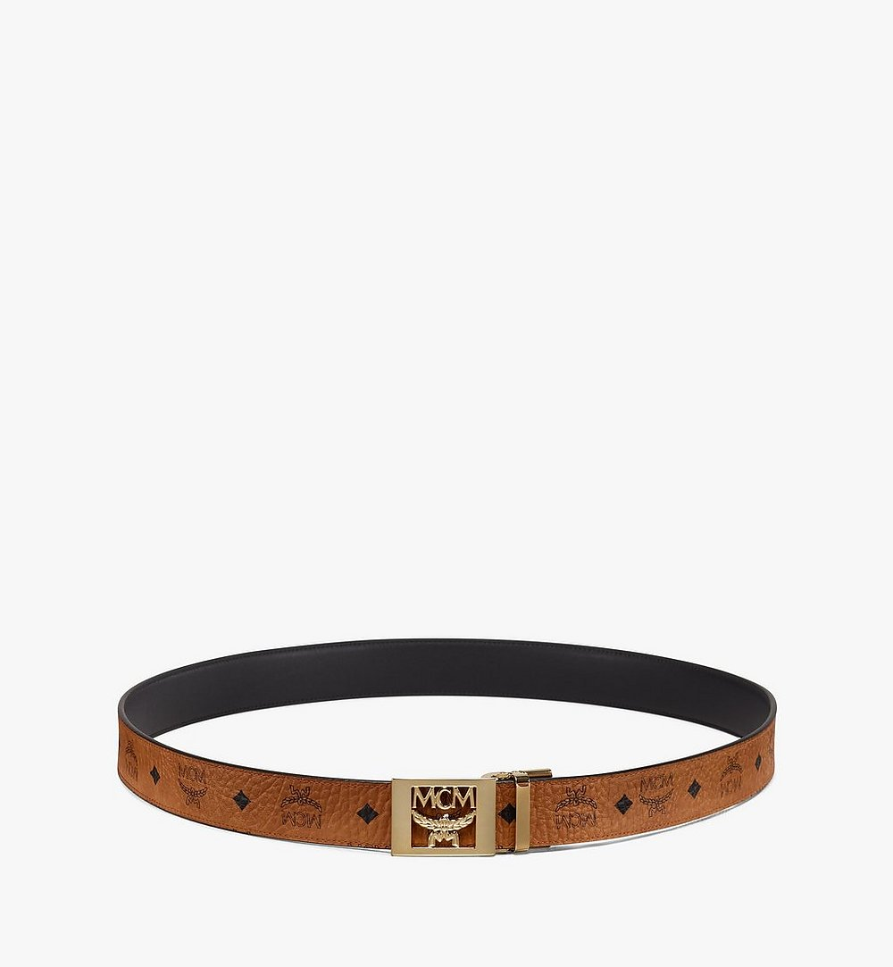 MCM MCM Collection Reversible Belt in Visetos Cognac MYB9AMM36CO001 Alternate View 2