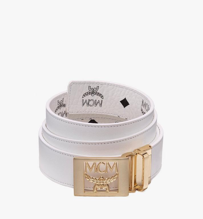 "MCM MCM Laurel Reversible Belt 1.5"" in Visetos White MYB9AMM36WT001 Alternate View 2"