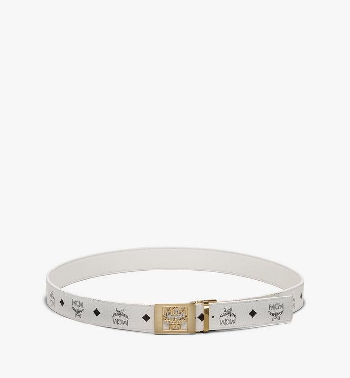 "MCM MCM Laurel Reversible Belt 1.5"" in Visetos White MYB9AMM36WT001 Alternate View 3"