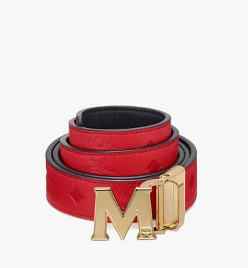 "MCM Claus Flat M Reversible Belt 1"" in Monogram Leather Alternate View"