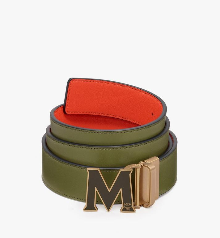 "MCM Claus Flat M Reversible Belt 1.5"" in Logo Leather Alternate View"