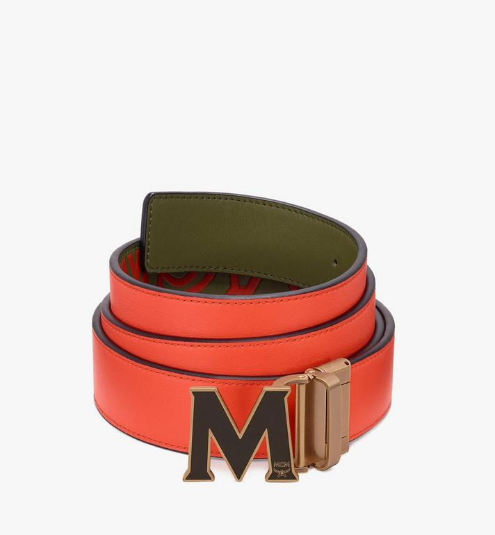 "MCM Claus Flat M Reversible Belt 1.5"" in Logo Leather Alternate View 2"