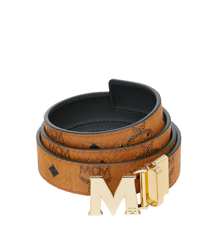 One Size M Reversible Belt 1 2 In Visetos Cognac Mcm Us Enjoy free ground shipping with every order. m reversible belt 1 2 in visetos