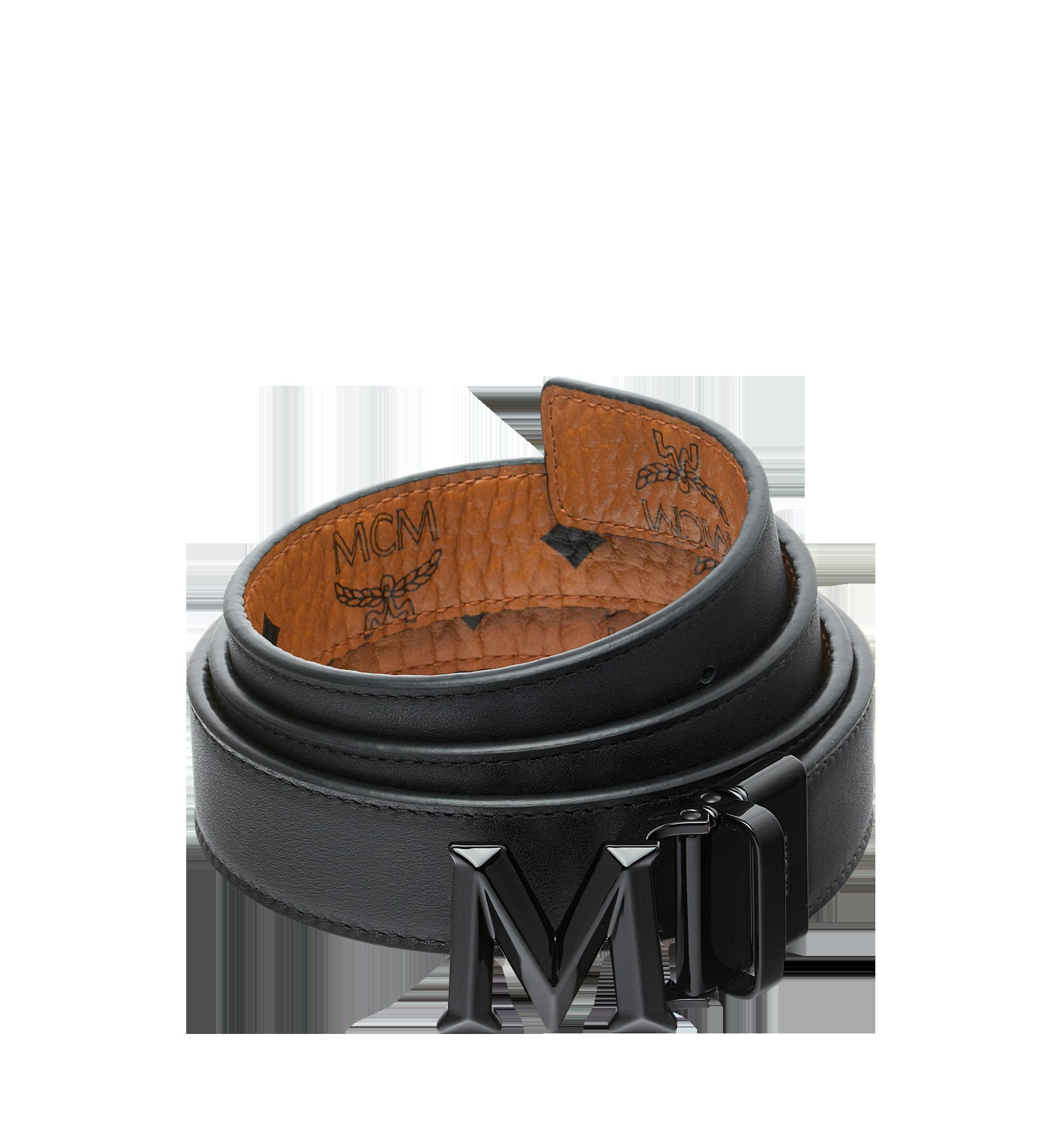 MCM Visetos 系列的 Claus 3D M 1.5 吋可翻轉皮帶 Cognac MYB9SVI33CO001 更多視圖 1