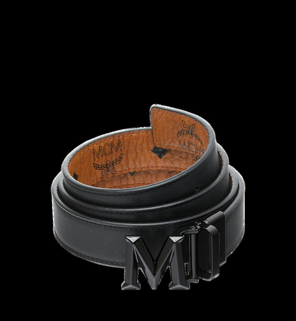 "MCM Claus 3D M Reversible Belt 1.5"" in Visetos Cognac MYB9SVI33CO001 Alternate View 1"